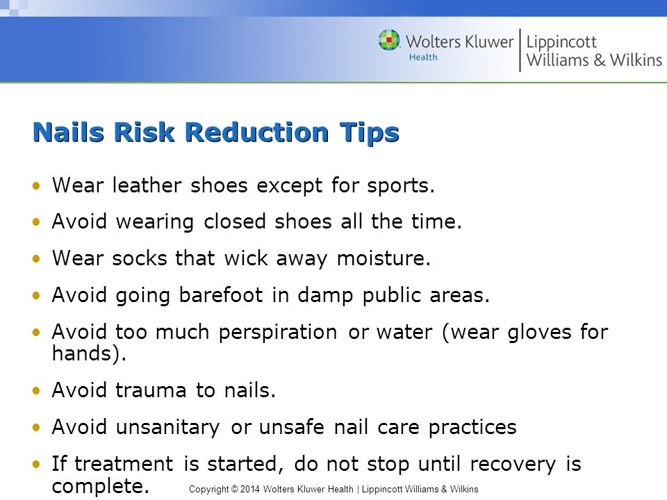 Nails Risk Reduction Tips