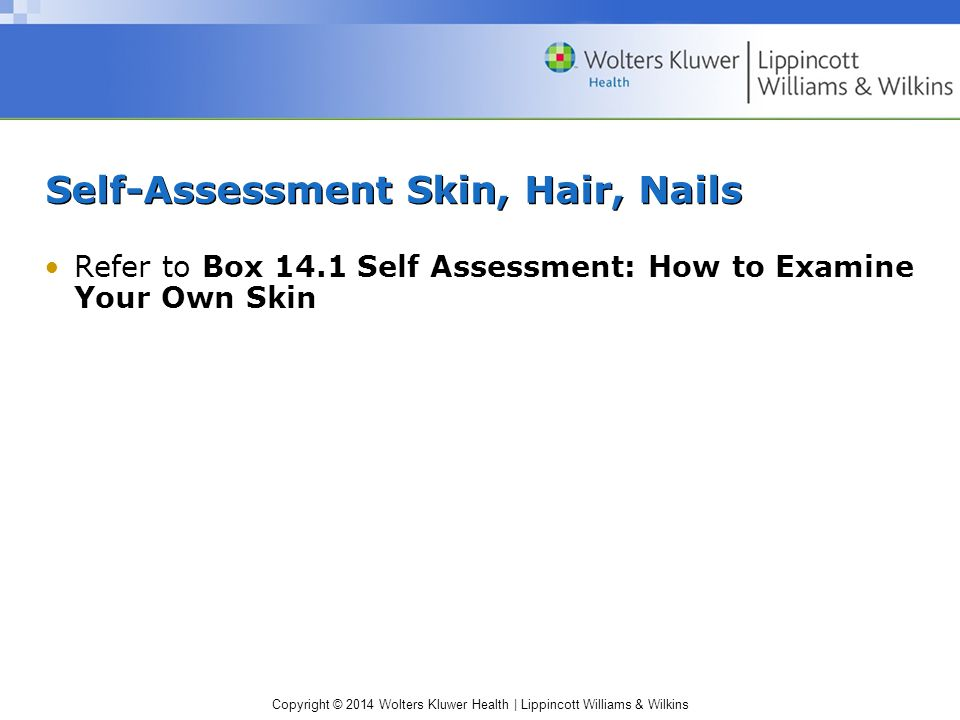 Self-Assessment Skin, Hair, Nails