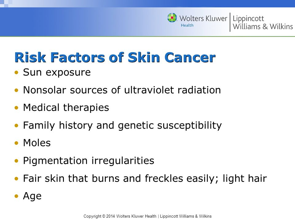Risk Factors of Skin Cancer