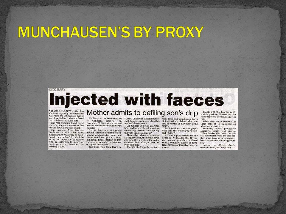 MUNCHAUSEN'S BY PROXY