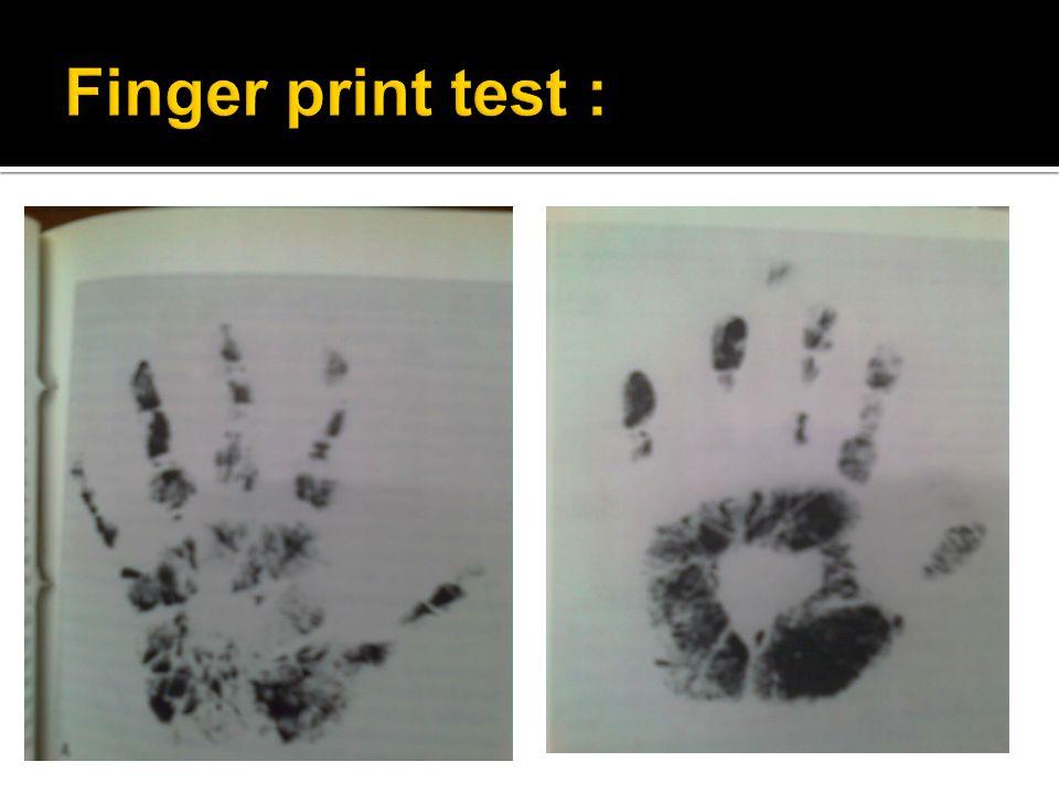 Finger print test :