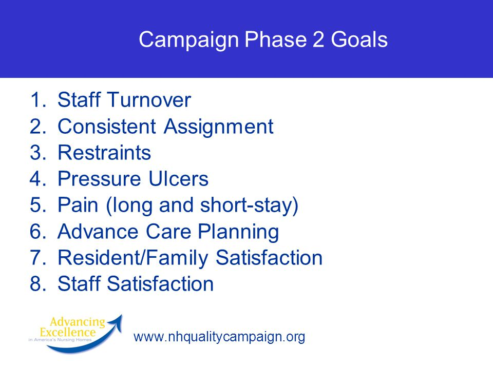 Campaign Phase 2 Goals Staff Turnover Consistent Assignment Restraints