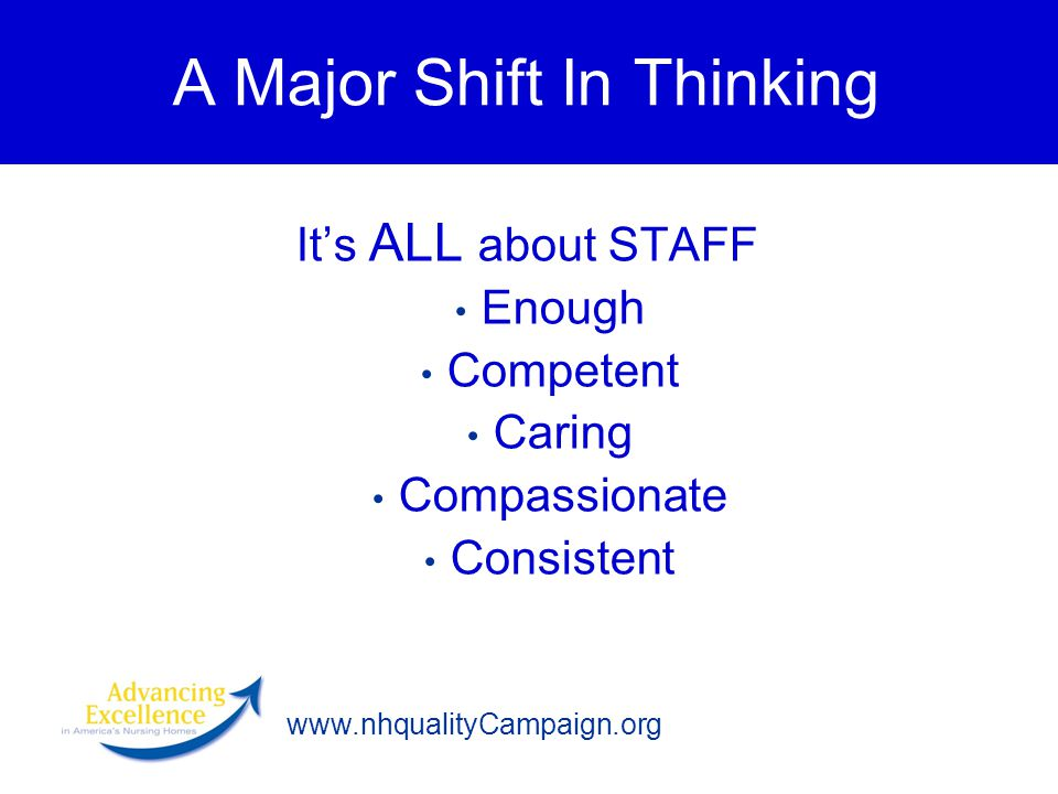 A Major Shift In Thinking
