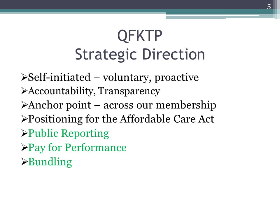 QFKTP Strategic Direction