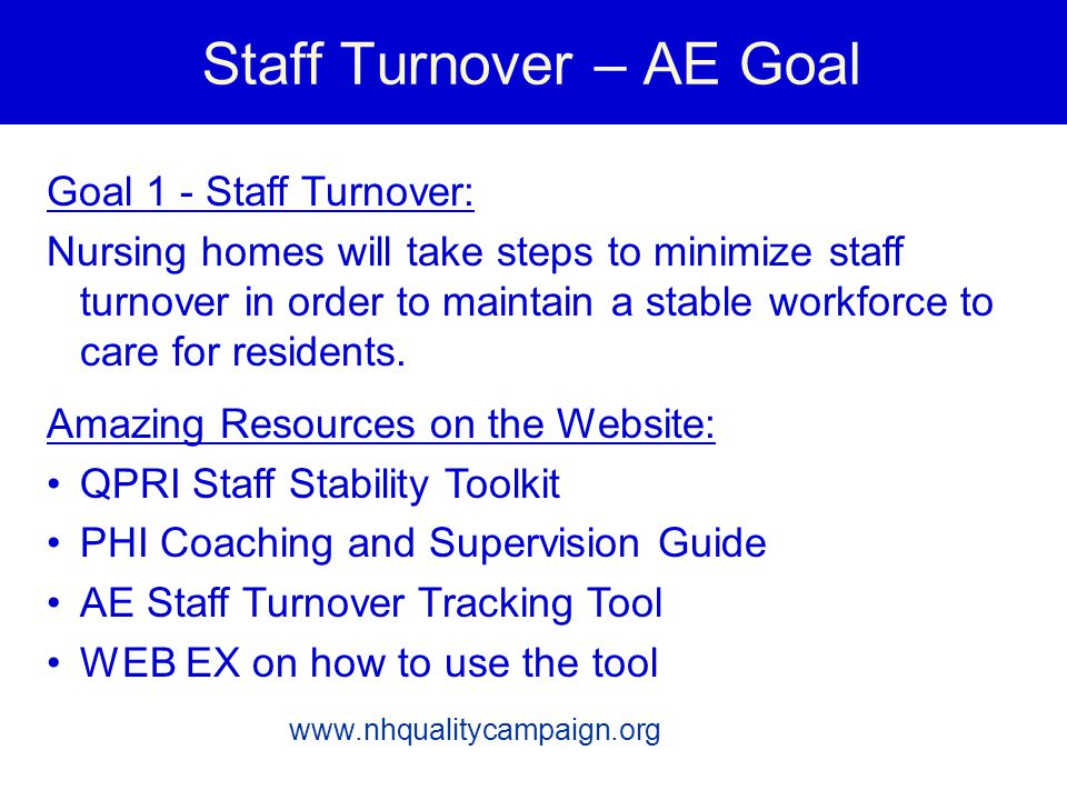 Staff Turnover – AE Goal