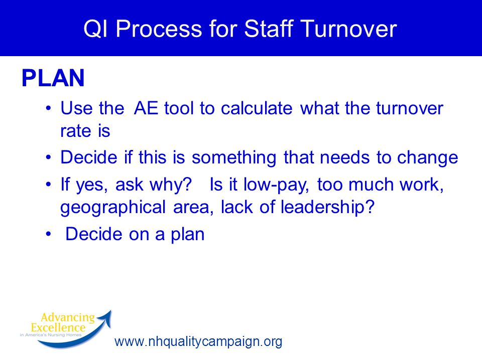 QI Process for Staff Turnover