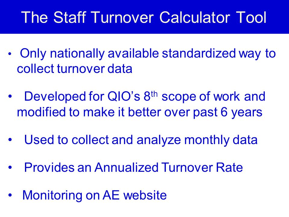 The Staff Turnover Calculator Tool