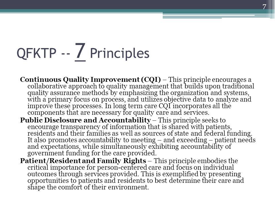 QFKTP -- 7 Principles