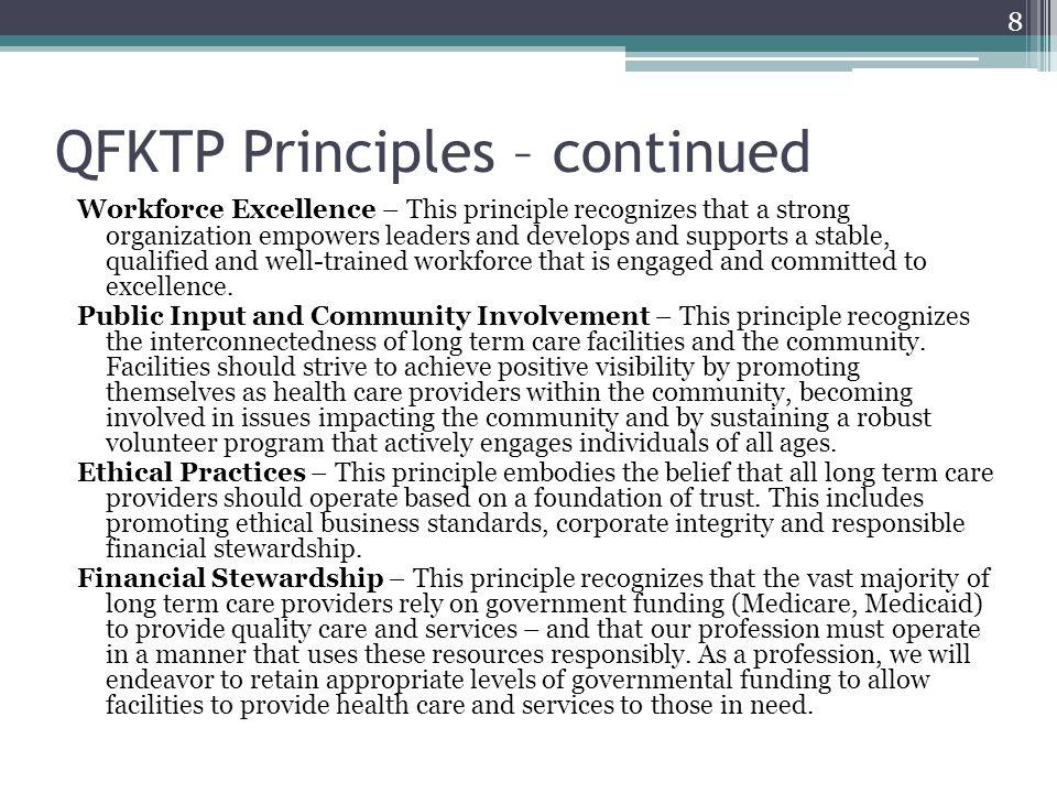 QFKTP Principles – continued