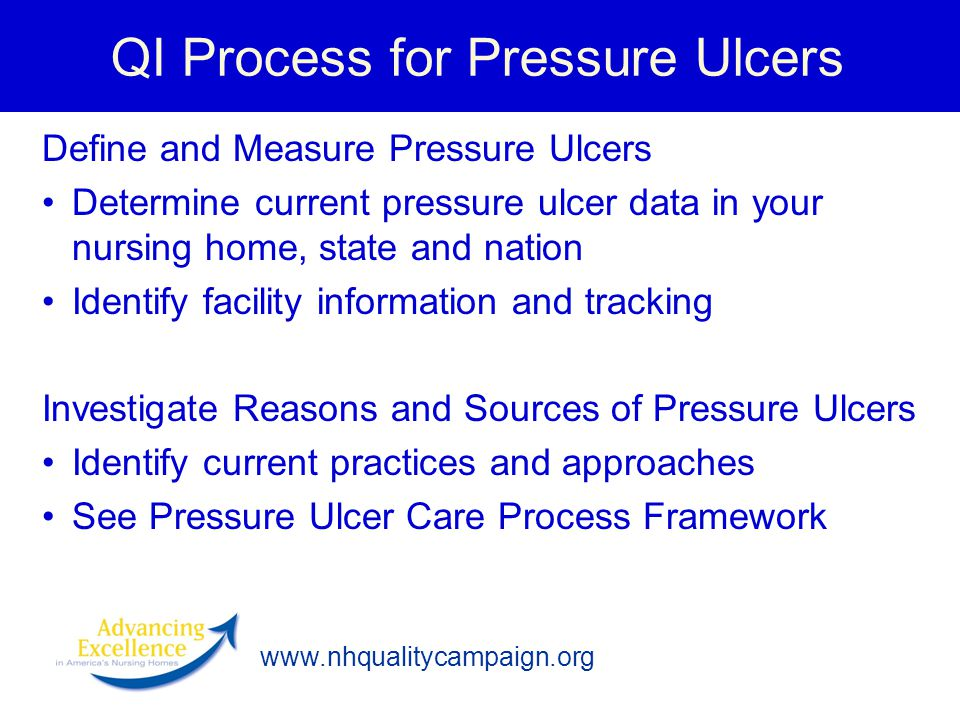 QI Process for Pressure Ulcers