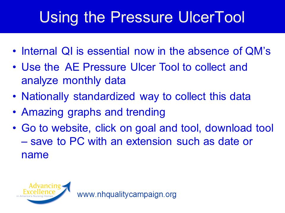 Using the Pressure UlcerTool