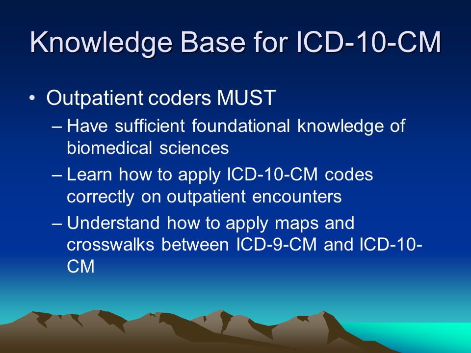 icd-10-cm requirements will be allocated to