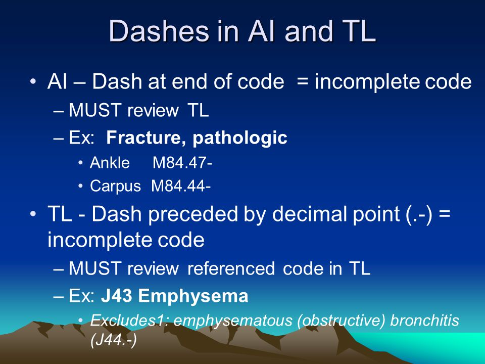 Dashes in AI and TL AI – Dash at end of code = incomplete code