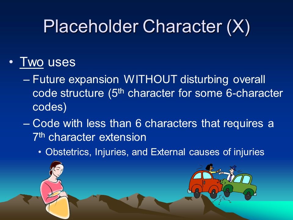 Placeholder Character (X)