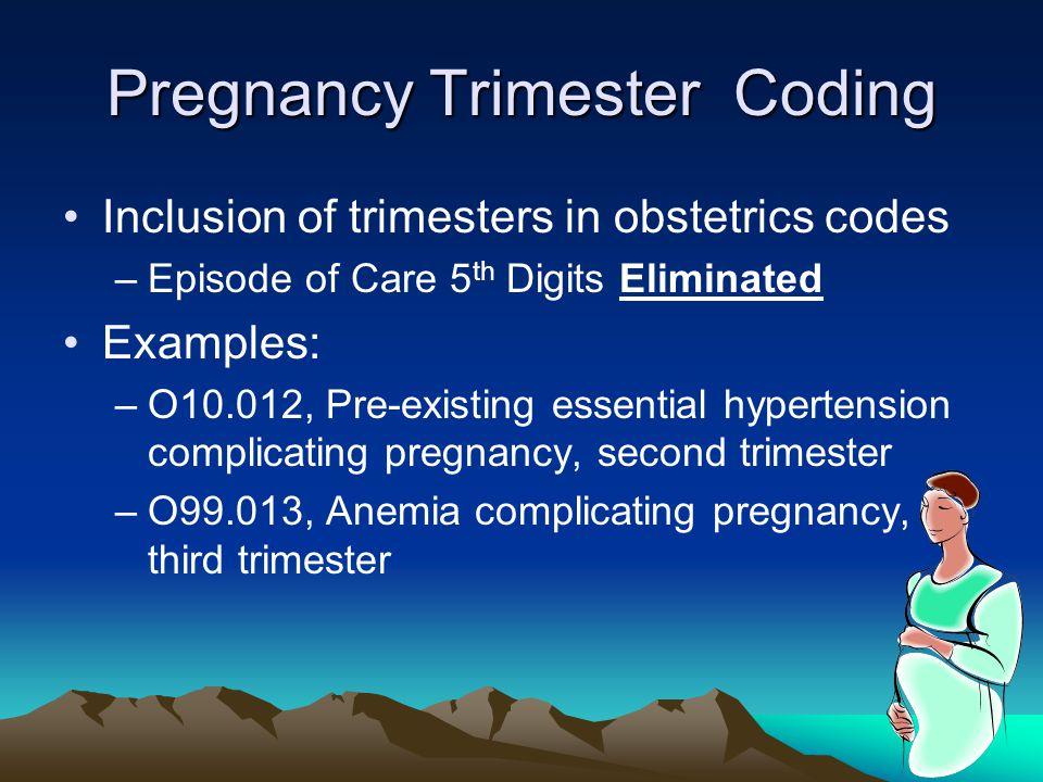 Pregnancy Trimester Coding