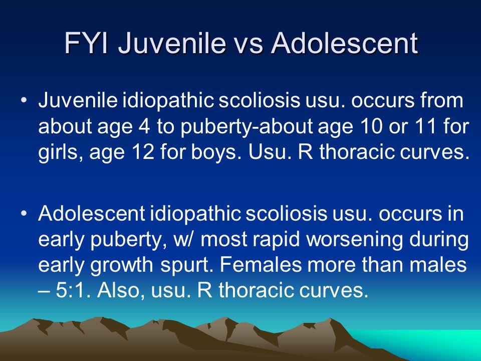 FYI Juvenile vs Adolescent