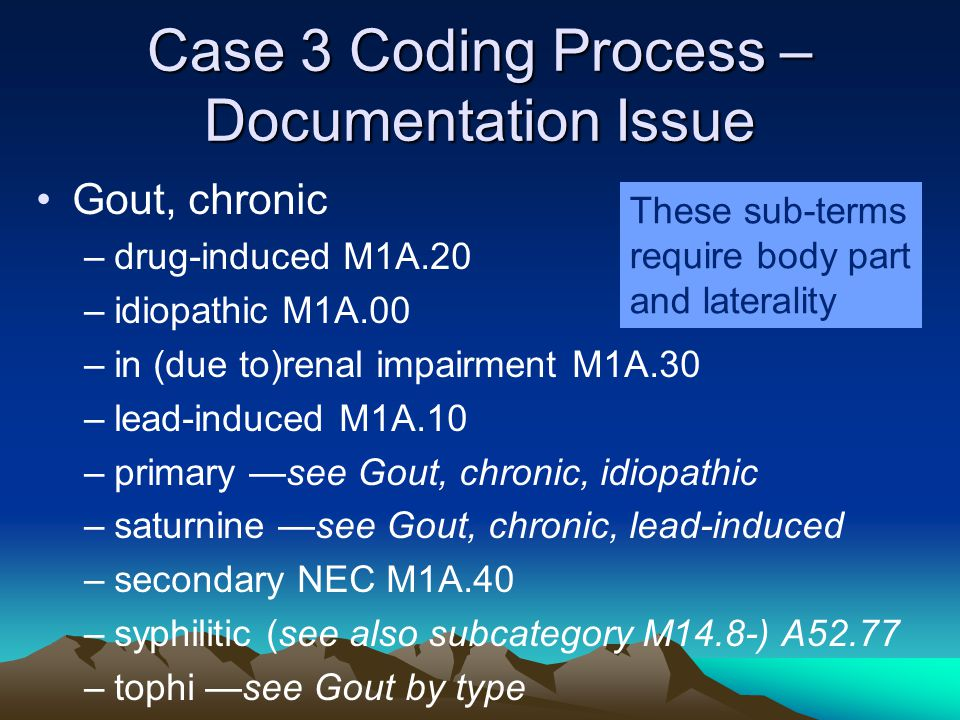 Case 3 Coding Process –Documentation Issue