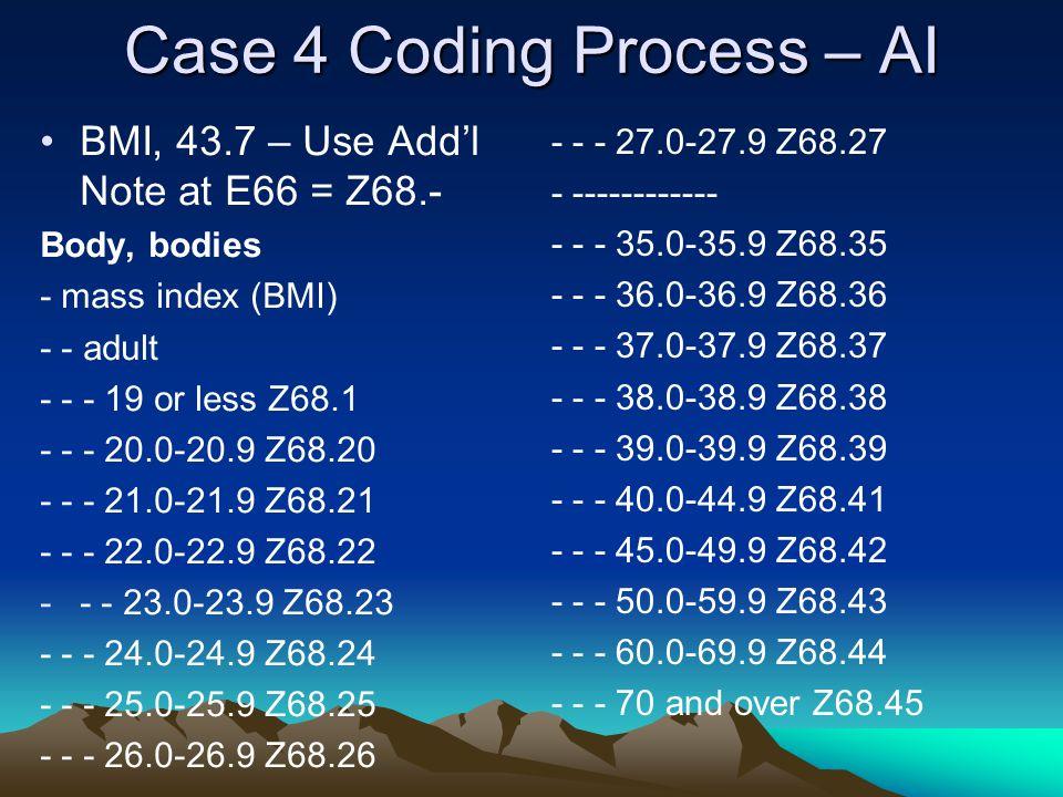 Case 4 Coding Process – AI
