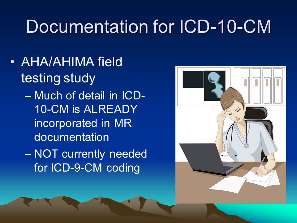 Documentation for ICD-10-CM