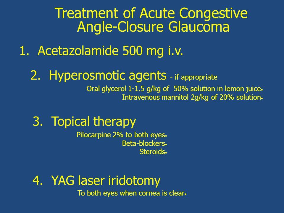 Treatment of Acute Congestive Angle-Closure Glaucoma