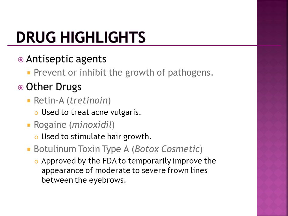 Drug Highlights Antiseptic agents Other Drugs