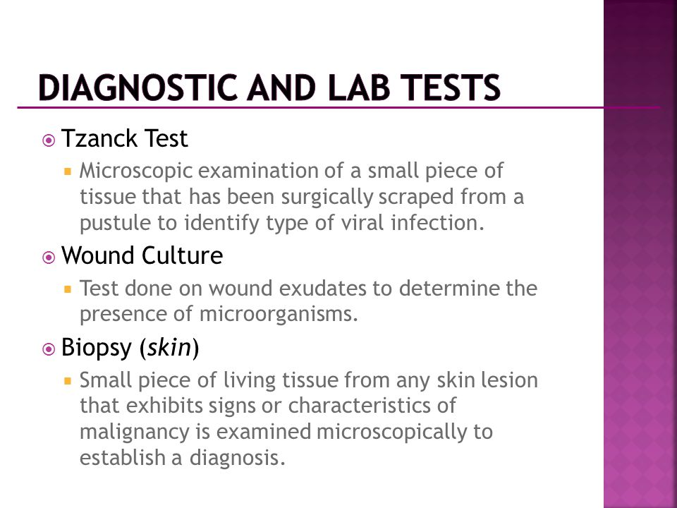 Diagnostic and Lab Tests