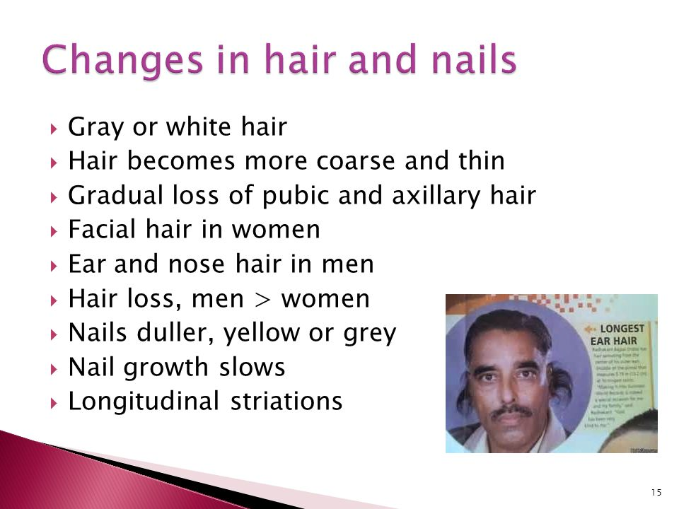 Changes in hair and nails