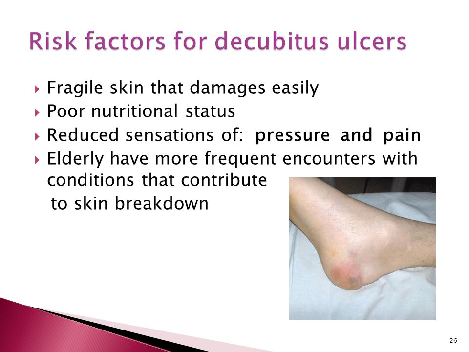 Risk factors for decubitus ulcers