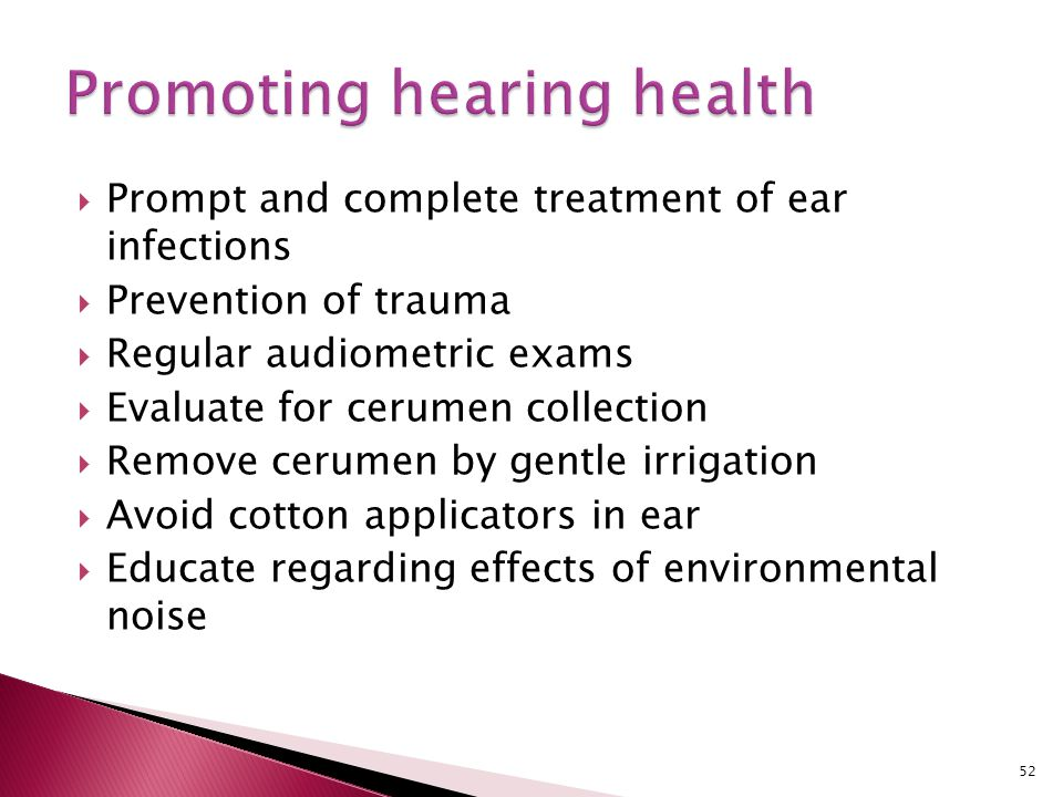 Promoting hearing health