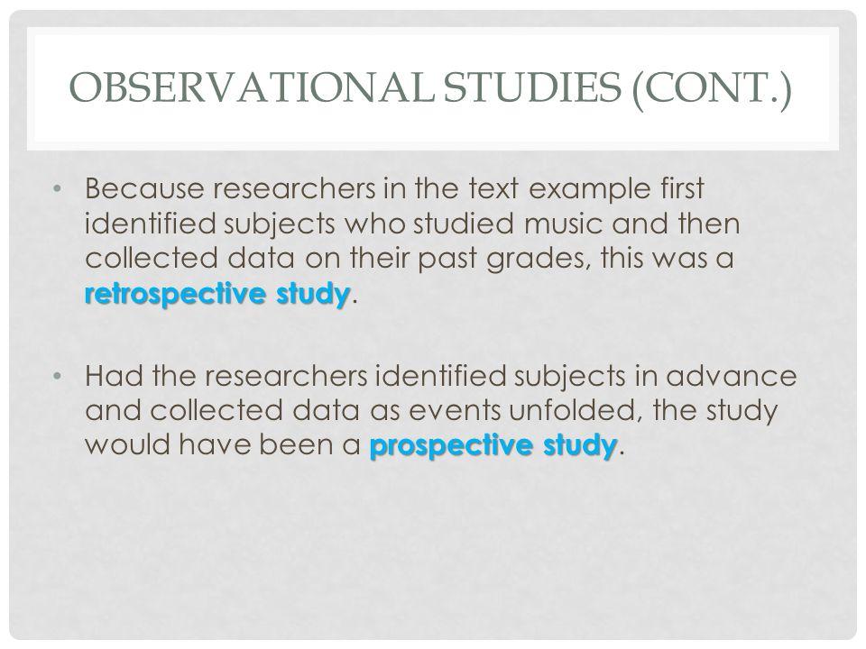 Observational Studies (cont.)