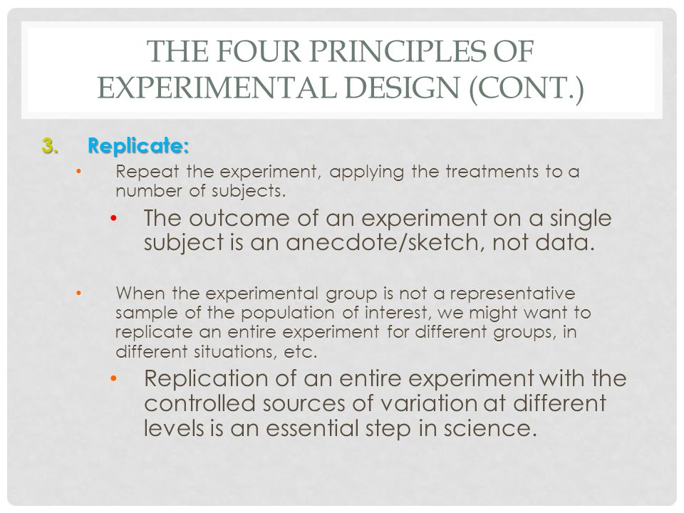 Principles Of Data Acquisition Experiment : Chapter experiments observational studies ppt