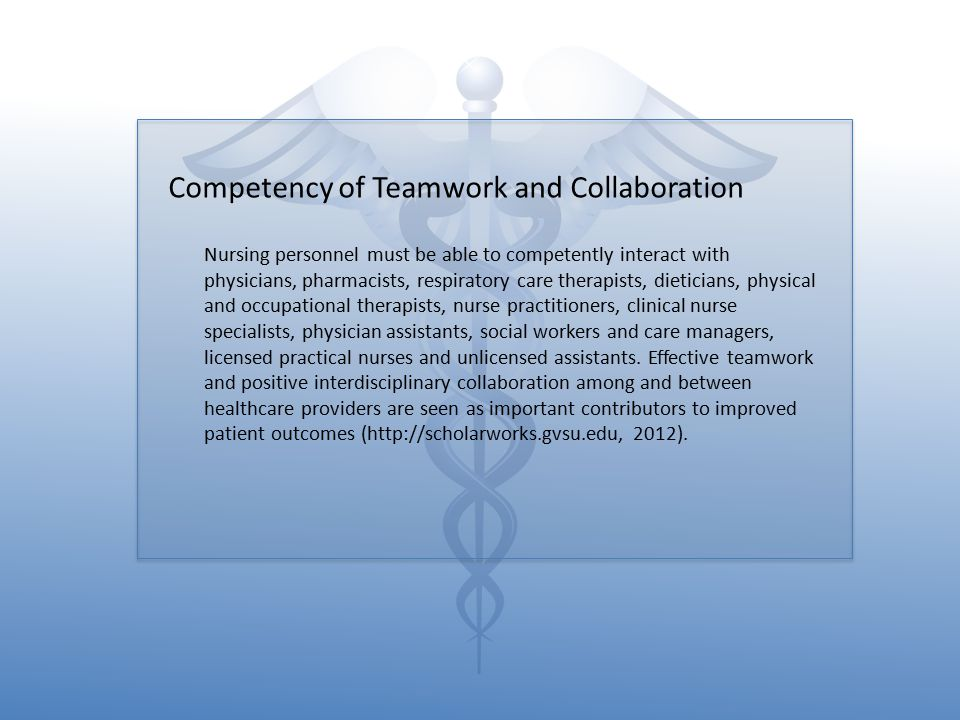 Competency of Teamwork and Collaboration