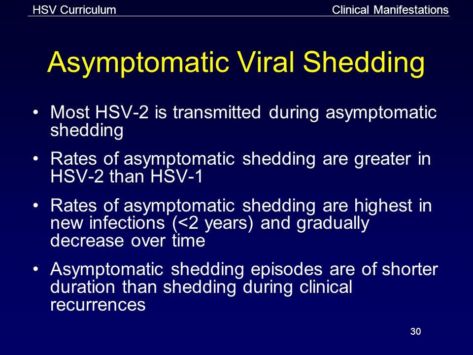 Asymptomatic Viral Shedding