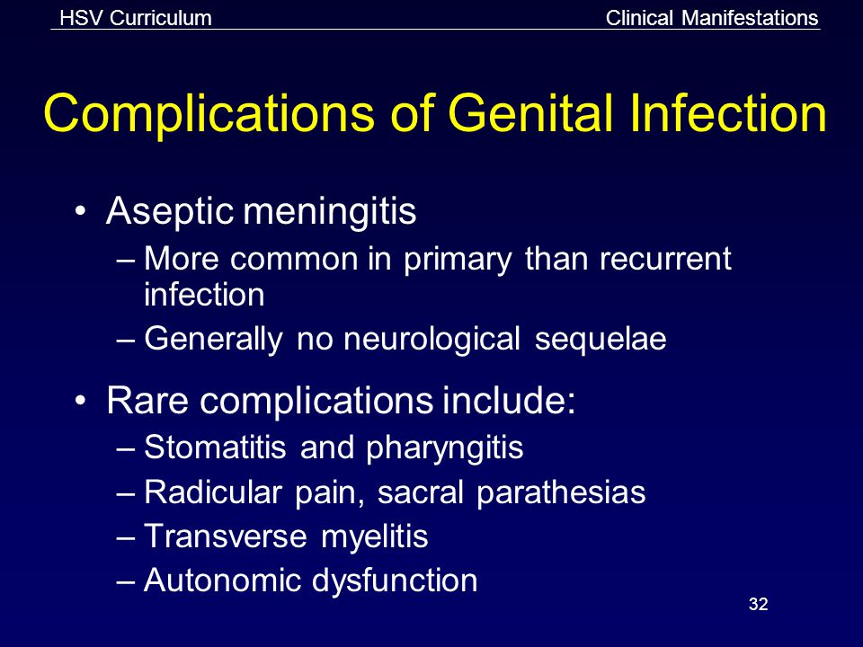 Complications of Genital Infection