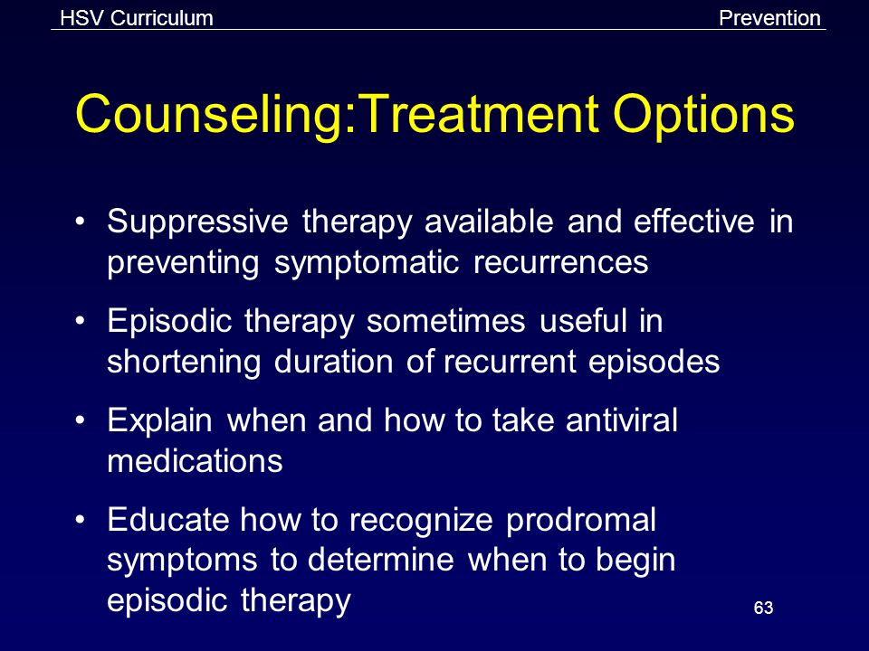 Counseling:Treatment Options