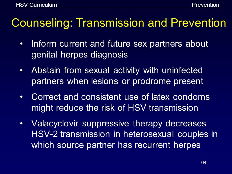 Counseling: Transmission and Prevention