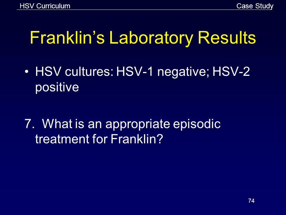 Franklin's Laboratory Results
