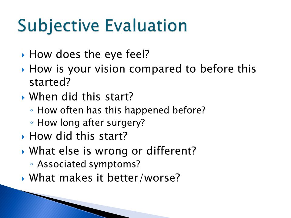 Subjective Evaluation