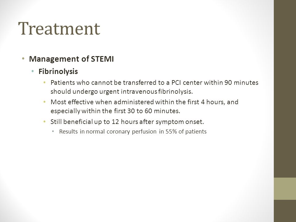Treatment Management of STEMI Fibrinolysis