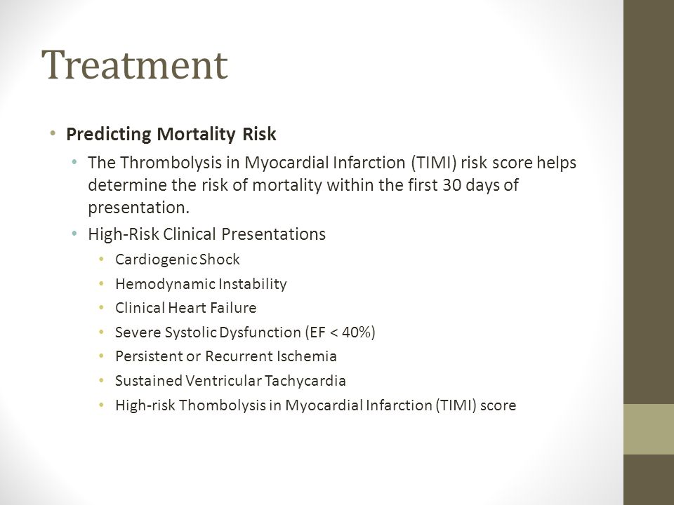 Treatment Predicting Mortality Risk