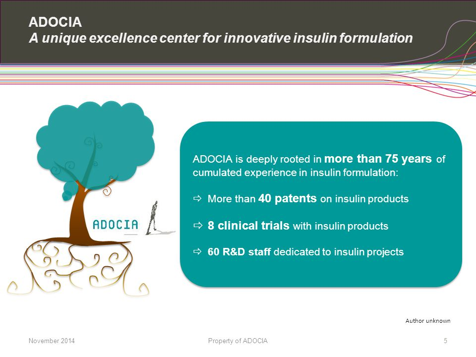 ADOCIA A unique excellence center for innovative insulin formulation