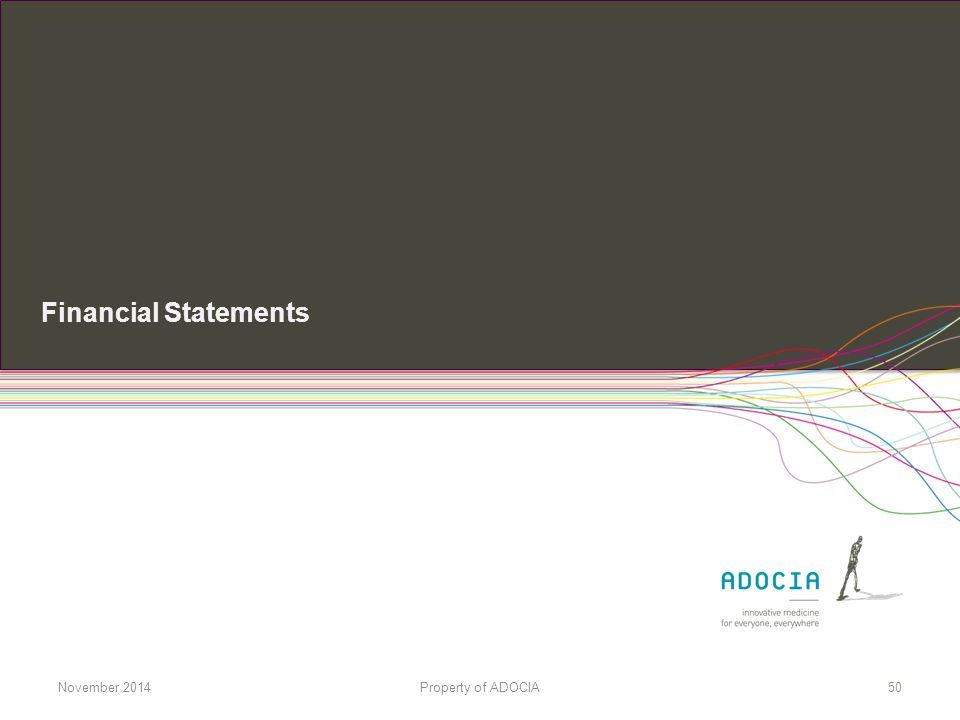 Financial Statements November 2014 Property of ADOCIA