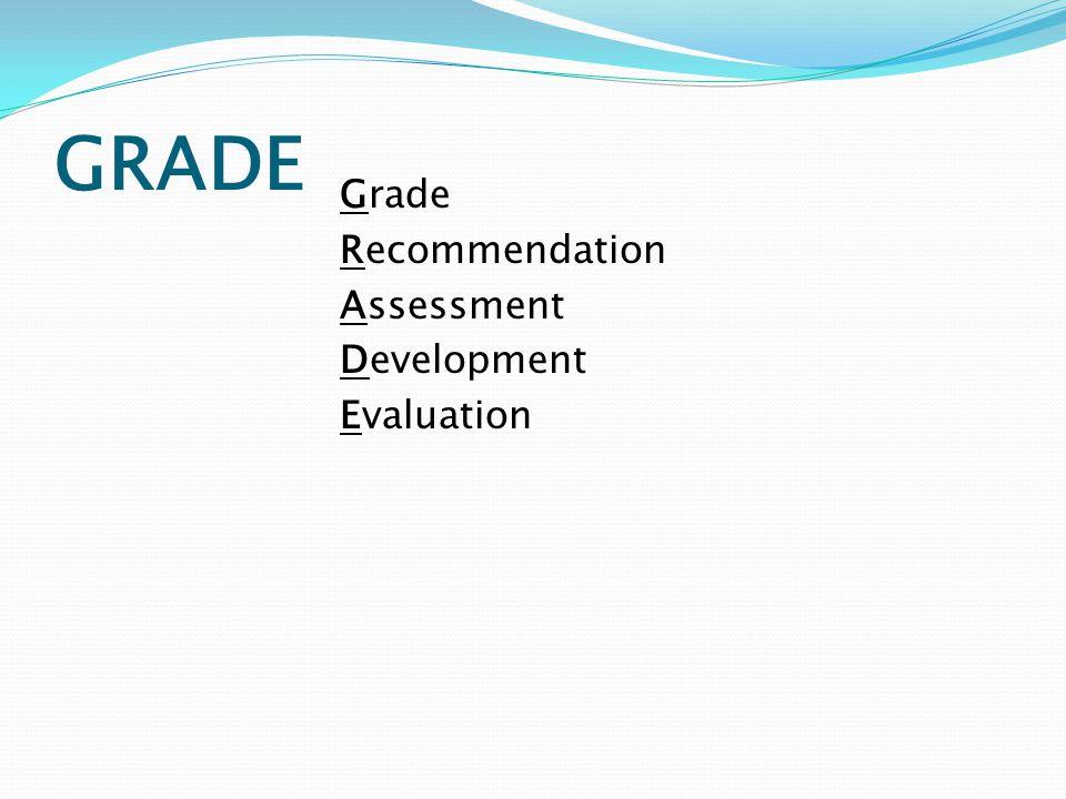 GRADE Grade Recommendation Assessment Development Evaluation