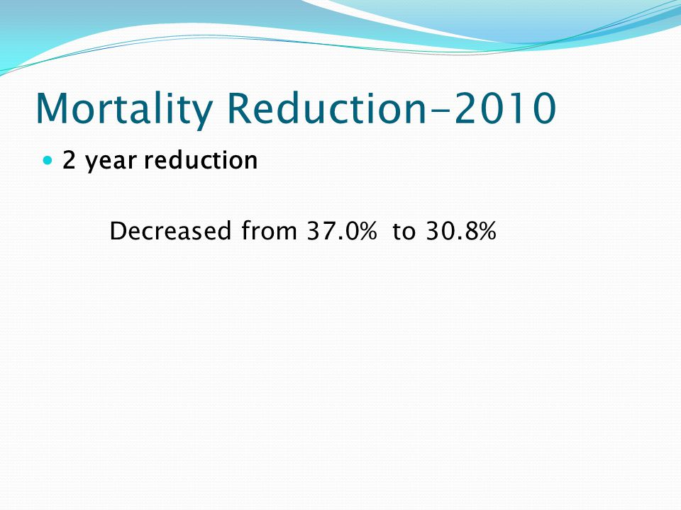 Mortality Reduction-2010 2 year reduction