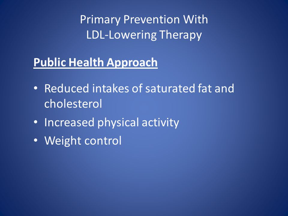 Primary Prevention With LDL-Lowering Therapy