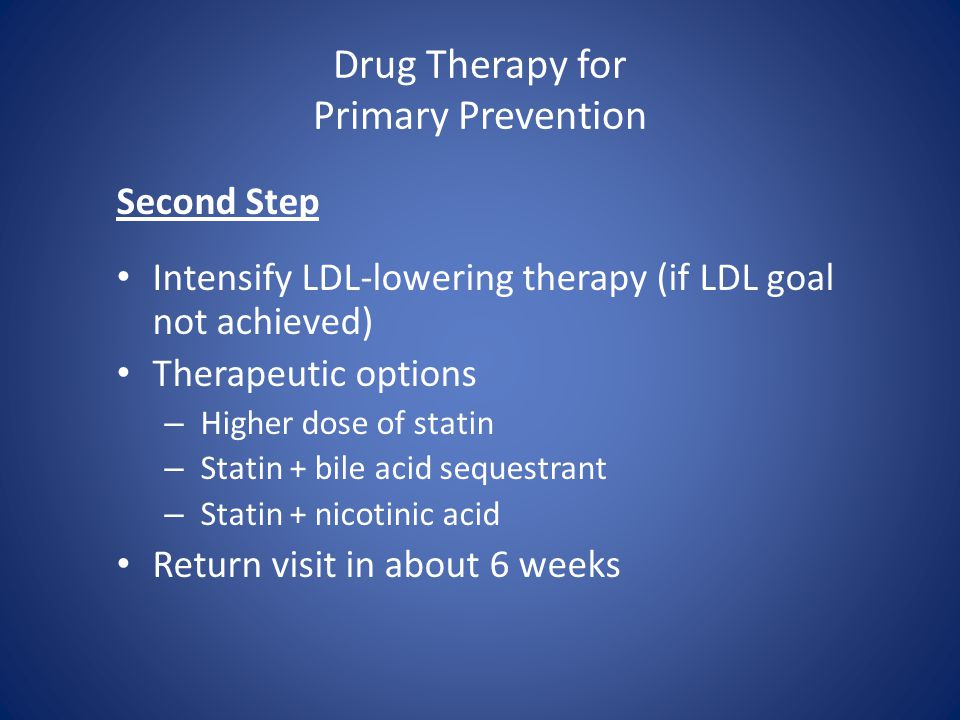 Drug Therapy for Primary Prevention