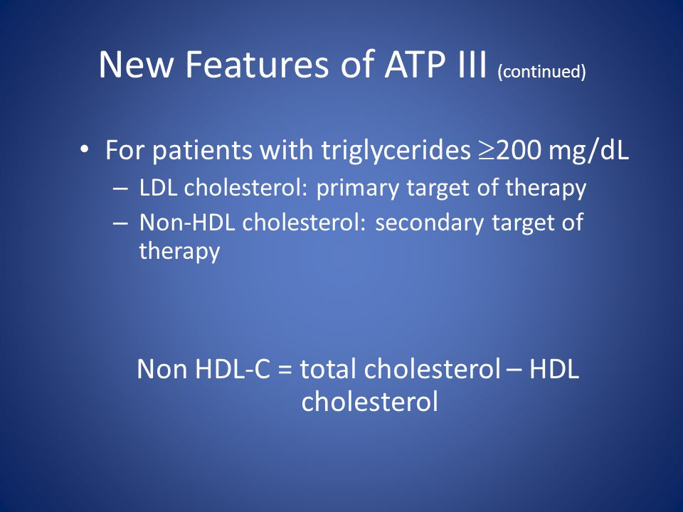 New Features of ATP III (continued)