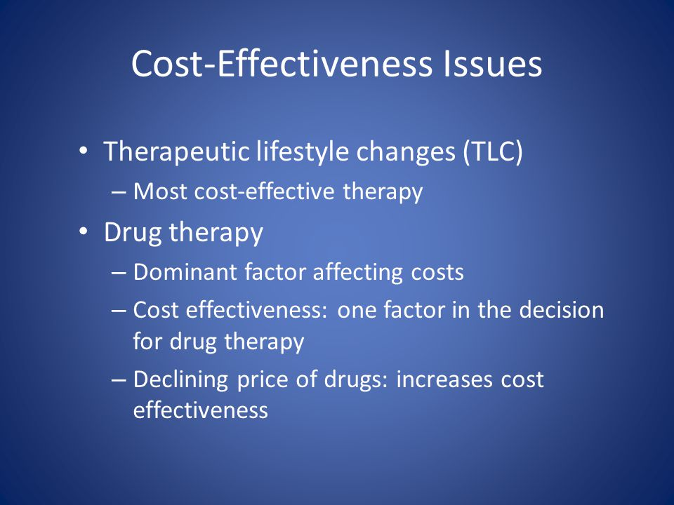 Cost-Effectiveness Issues