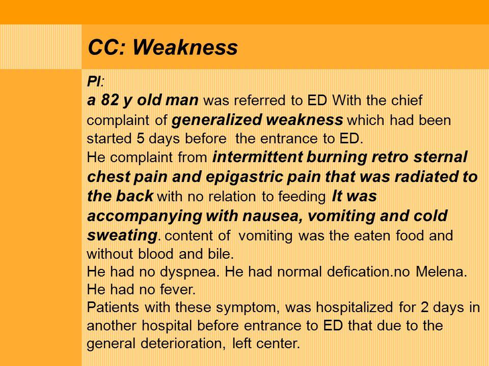 CC: Weakness PI: