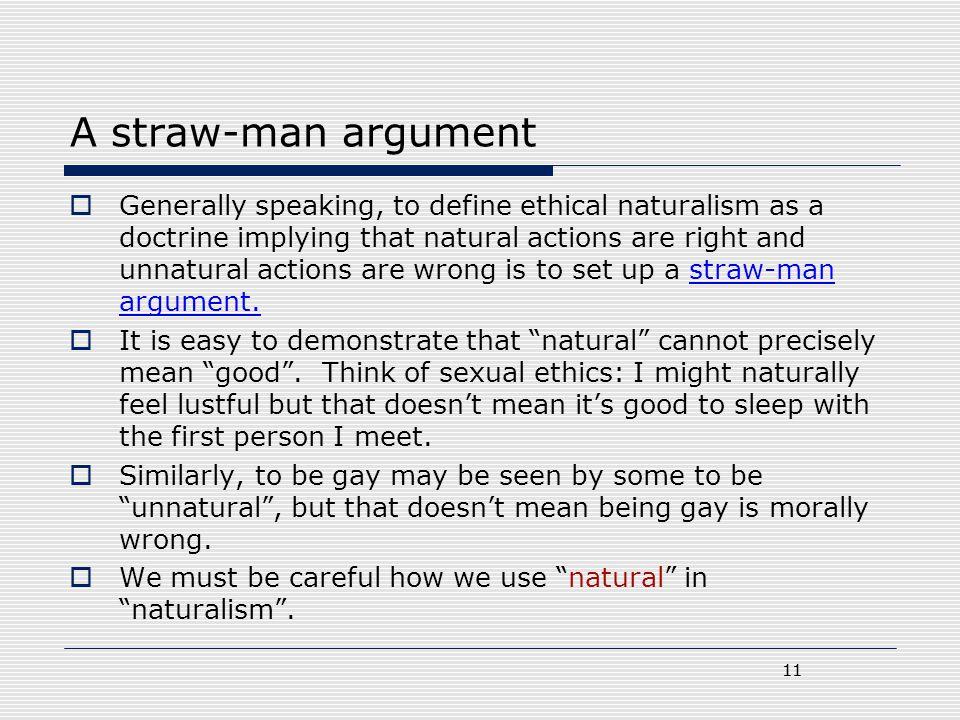A straw-man argument